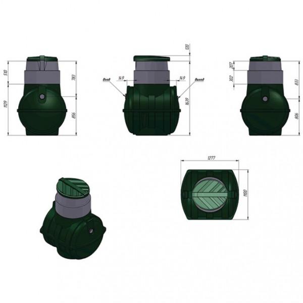 Септик ЭкоПром Rostok мини, 1000 л