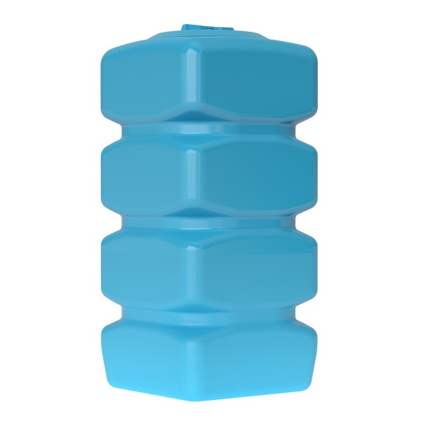 Бак пластиковый для воды Aquatech Quadro W-750 750 л с поплавком (синий), шт
