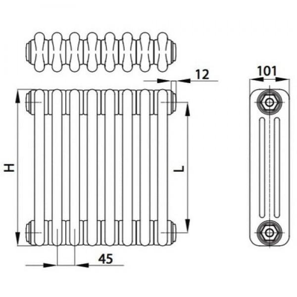 Стальной трубчатый радиатор BEMM 3030 U1 24 секции