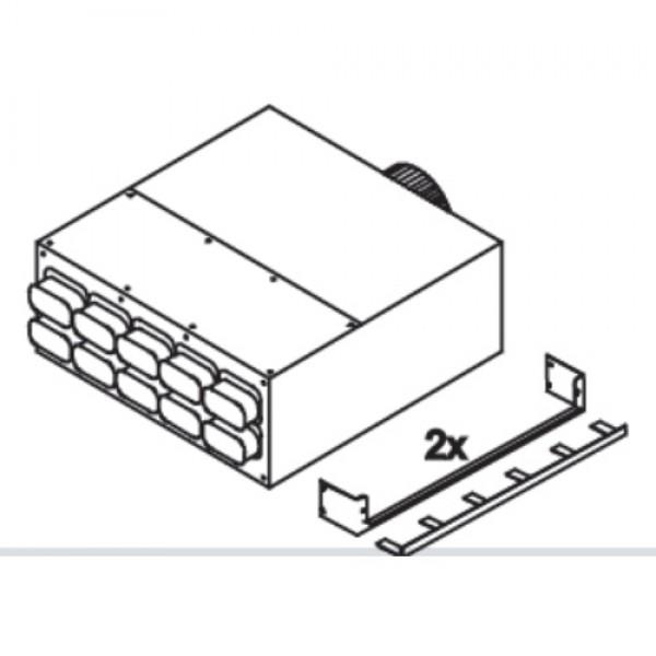 Коллектор Blizzard, 10 подключений 50x100 мм Ø160 мм, металл