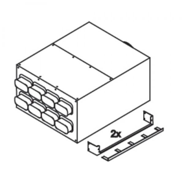 Коллектор Blizzard, 8 подключений 60x130 мм Ø180 мм, металл