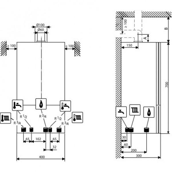 Котел газовый настенный Buderus Logamax U072-28K
