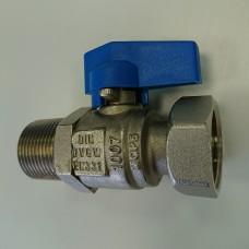 Кран 1/2 синий WARM PK0008
