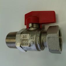 Кран 1/2 красный WARM PK0010