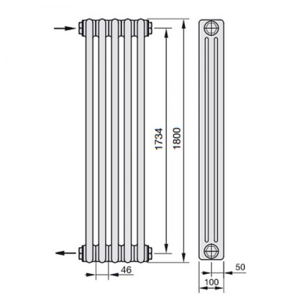 Радиатор стальной Zehnder Charleston 3180 с нижним подлючением x10